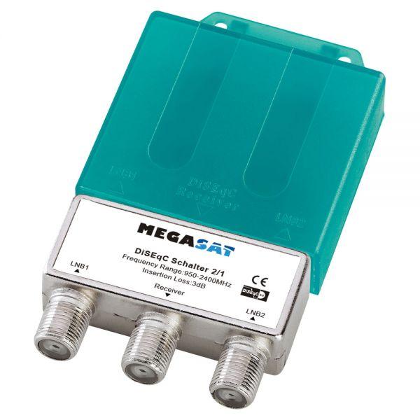 Megasat DiSEqC Schalter 2/1 Switch Sat Verteiler Wetterschutz