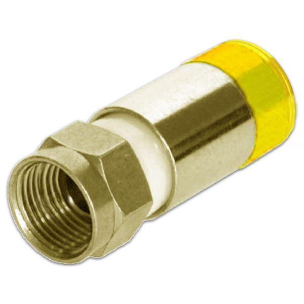 F-Kompressionsstecker Kompressionstecker 7,3mm gelb für Koaxialkabel