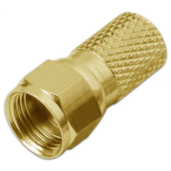 F-Stecker 7mm HQ Premium vergoldet Gold