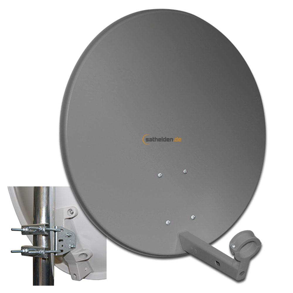 60 cm sat spiegel satelliten antenne megasat stahl anthrazit ihr experte f r. Black Bedroom Furniture Sets. Home Design Ideas