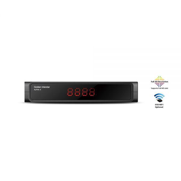 Golden Interstar Alpha X HDTV SAT-Receiver DVB-S2 Multistream Linux OS IPTV