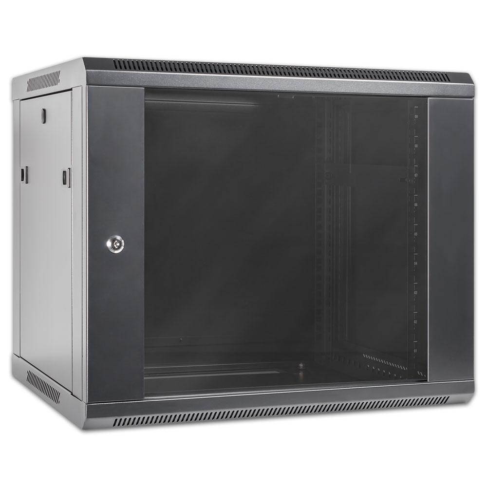 serverschrank server schrank computer 19 zoll 9 einheiten he9 500 ebay. Black Bedroom Furniture Sets. Home Design Ideas