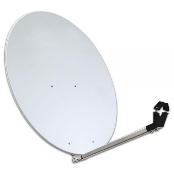 80cm Megasat Aluminium Classic Sat Spiegel SQ Antenne Alu Satelliten lichtgrau 80 cm