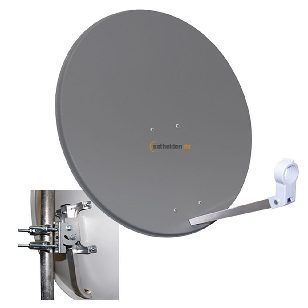 80 cm sat spiegel satelliten antenne megasat stahl anthrazit ihr experte f r. Black Bedroom Furniture Sets. Home Design Ideas