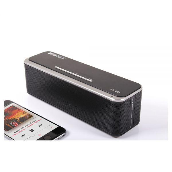 Opticum AX 20 Bluetooth Lautsprecher 2x 10W Micro SD Freisprechfunktion