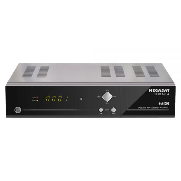 Megasat HD 935 Twin V2 HDTV Sat Receiver USB PVR ready Live Stream Mediacenter