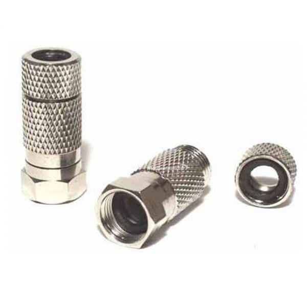 Koschi F-Stecker 7mm mit Gummidichtung wasserdicht schraubbar